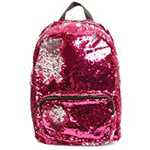BACKPACK PINK SILVER SEQUIN