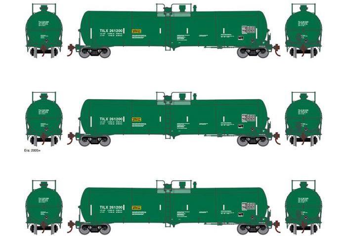 Athearn #ATH16500 30K Ethanol Tank car 3 PACK TILX