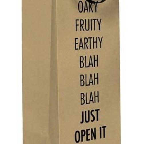 Blah Blah Blah Wine Bag
