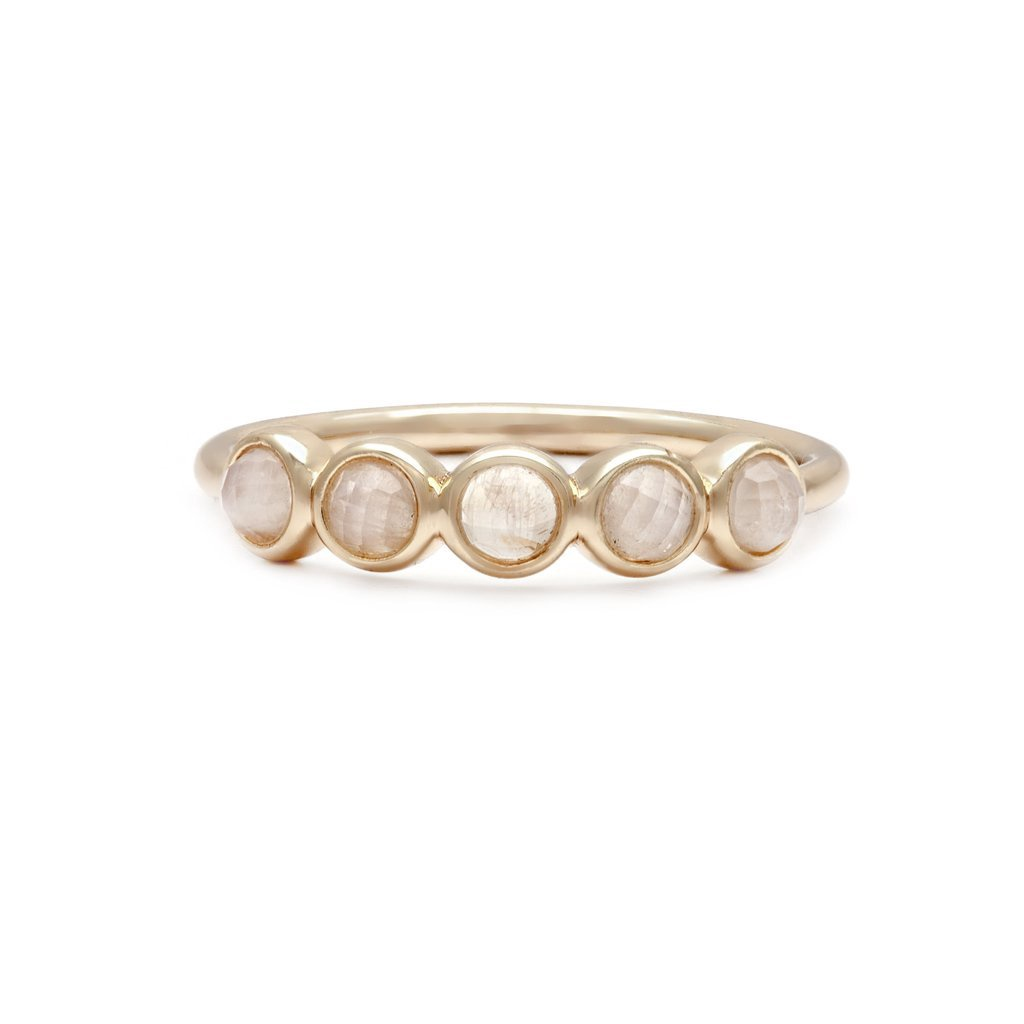 MELANIE AULD - CORSO RING IN GOLD/MOONSTONE