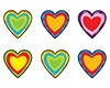 T 46083 PAPER HEARTS SHAPES STICKERS
