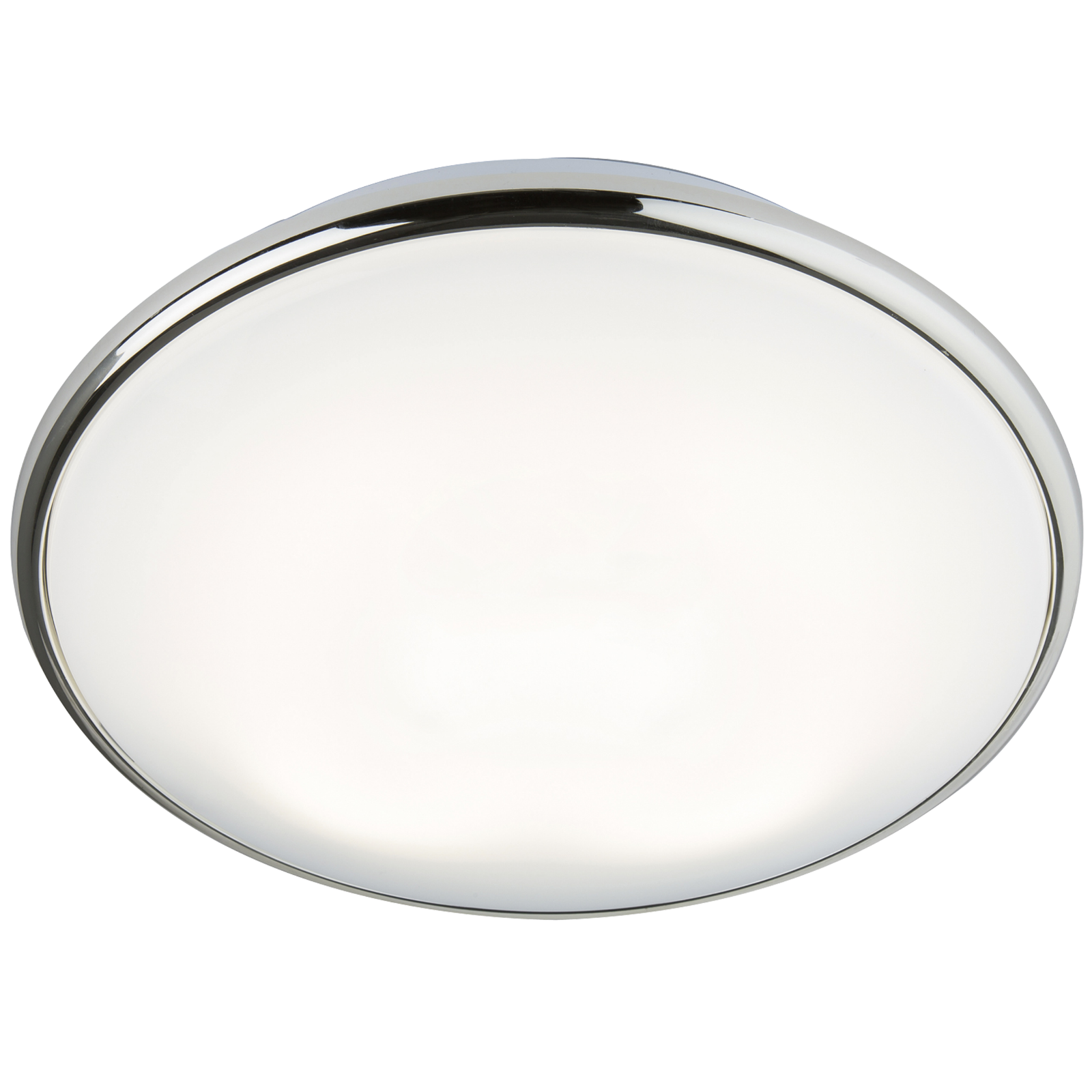 IP20 28W 2D HF Bulkhead with Opal Diffuser and Chrome Base
