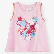Hatley Floral Heart Baby Tank Top