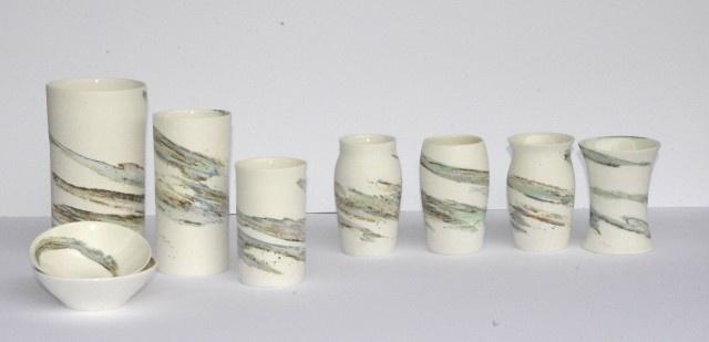 Strata Porcelain Vase - small shaped