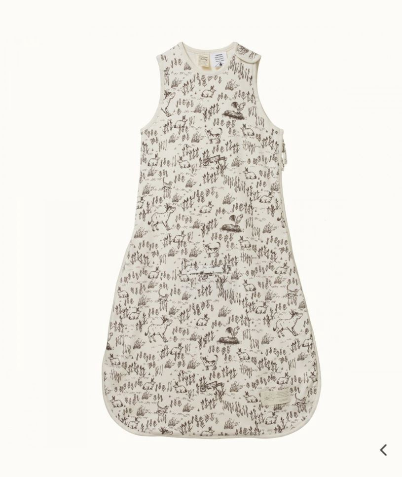 ORGANIC COTTON & MERINO SLEEPING BAG - BARNYARD SLEEPWEAR