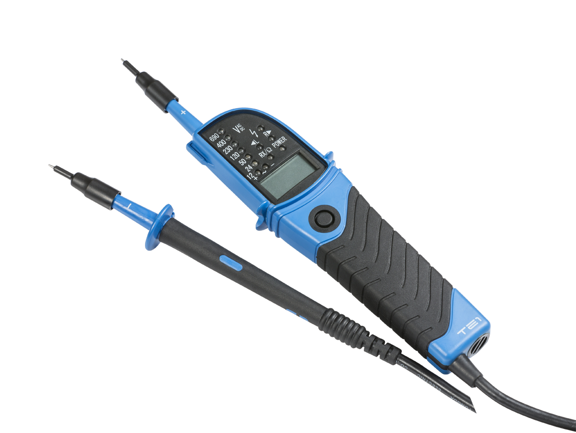 IP64 CAT III 2 POLE TESTER WITH LED & LCD DISPLAY