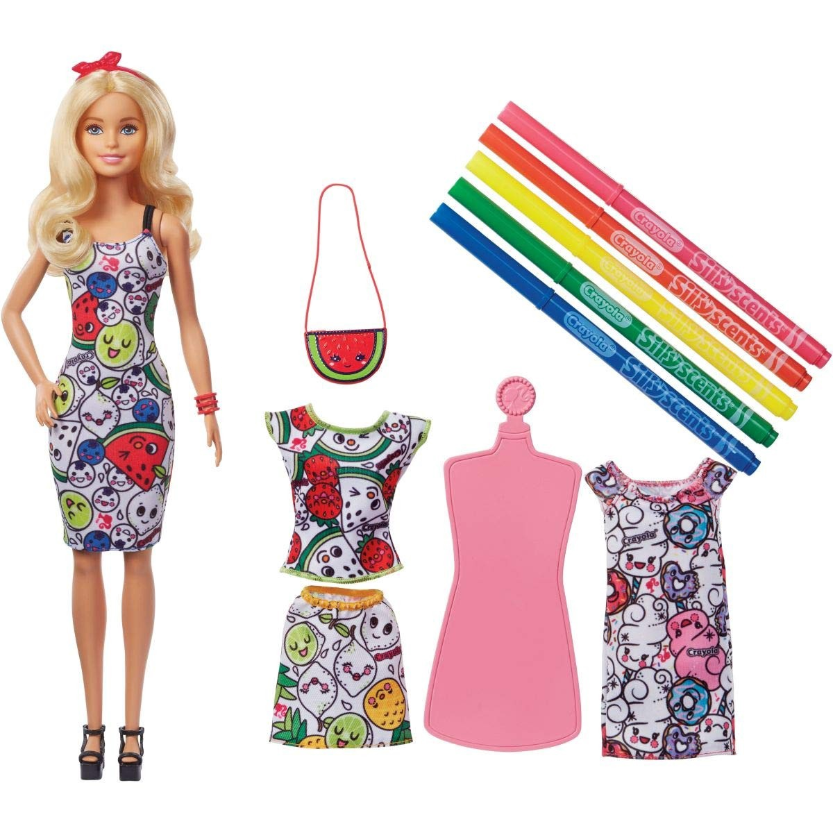 BARBIE CRAYOLA COLOR-IN-FASHIONS DOLL