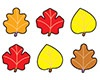 T 46064 AUTUMN LEAVES SHAPE STICKERS