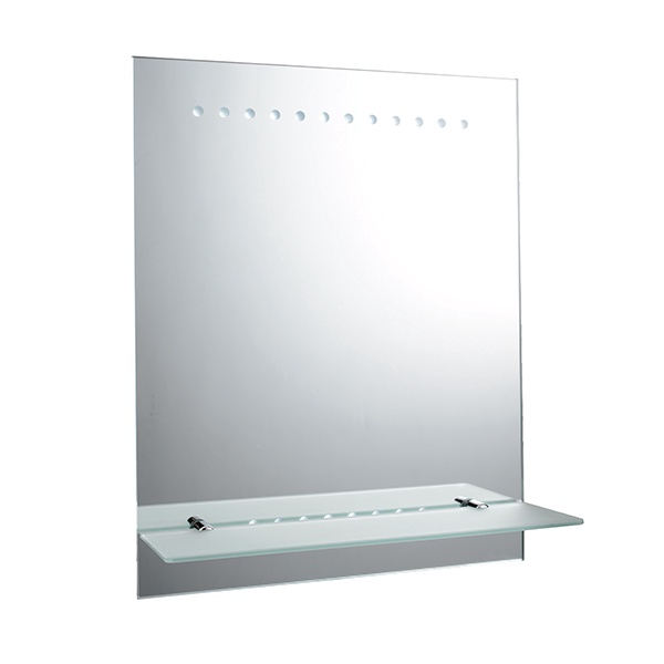 Taro battery operated mirror IP44 1.5W SW wall - mirrored glass