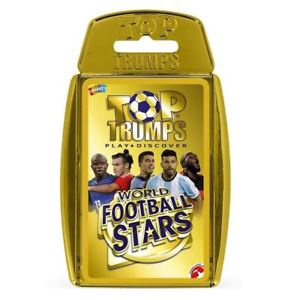 TOP TRUMPS WORLD FOOTBALL STARS GOLD