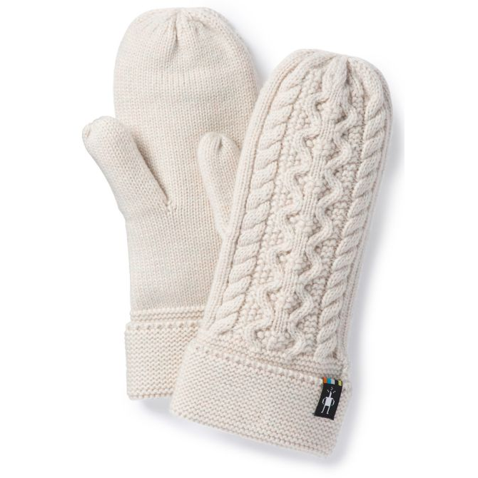 SMARTWOOL - BUNNY SLOPE MITTEN IN MOONBEAM HEATHER