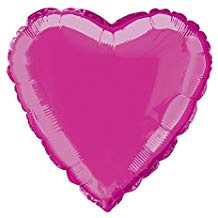 HEART HOT FOIL BALLOON PINK