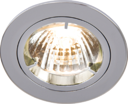 FIXED CHROME TWIST-LOCK DOWNLIGHT GU10/MR16
