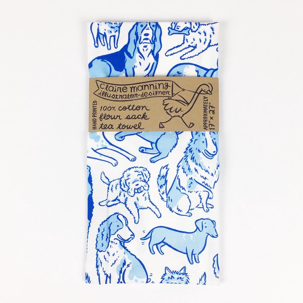 Total Dogs Tea Towel