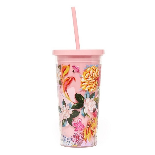 Garden Party Sip Sip Tumbler With Straw