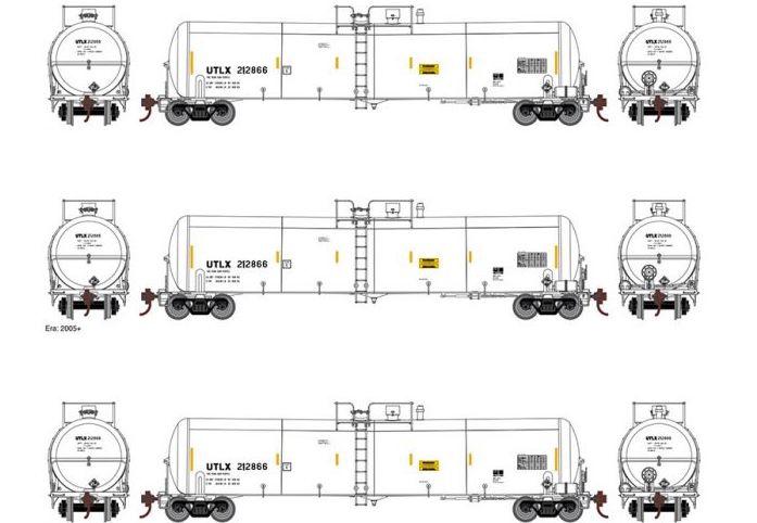Athearn #ATH16508 30K Ethanol Tank car 3 PACK UTLX