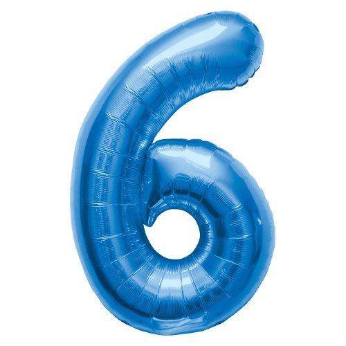 NUMBER 6 BLUE 34''