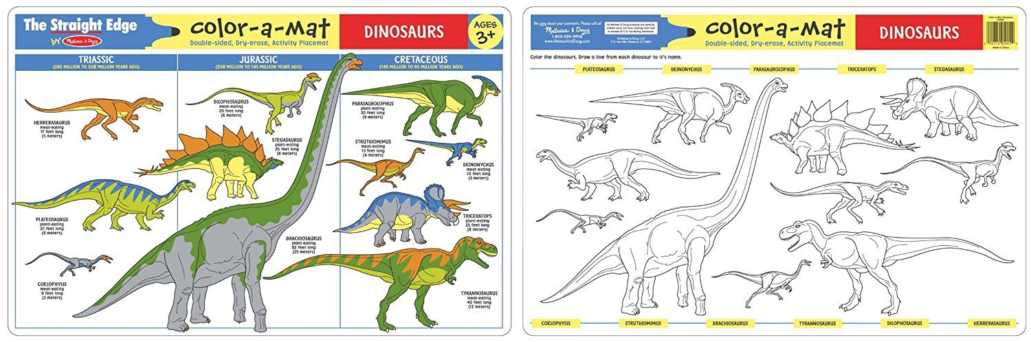X MD 5002 DINOSAURS WRITE A MAT EACH