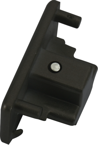 230v single Circuit track Dead End Cap Black