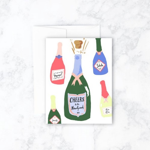 Newlywed Cheers Card