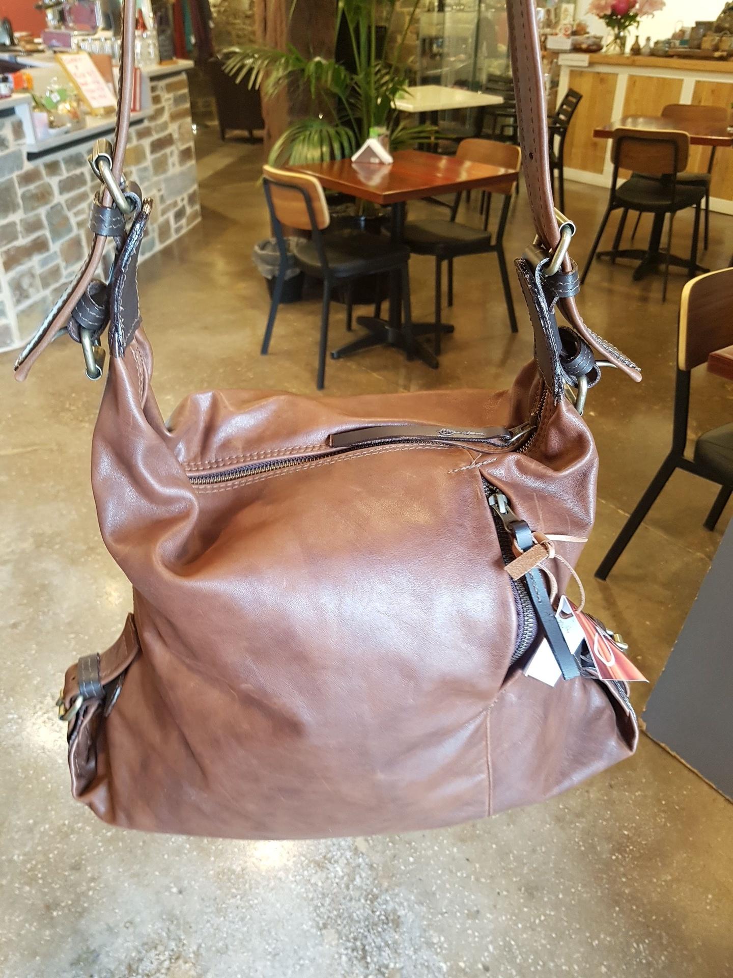 The Jill - Brown Leather Shoulder Bag