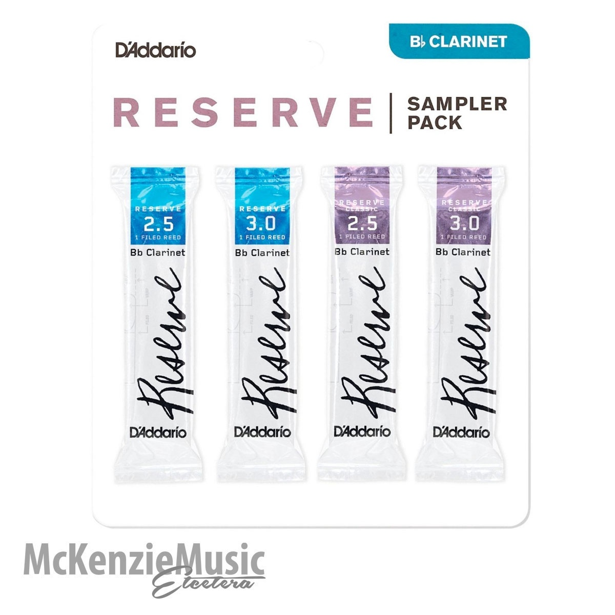 D'Addario Reserve Clarinet Sample Pack Size 2.5/3.0