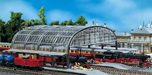Faller #272-222127 N Scale  Station Hall w/Glass Roof