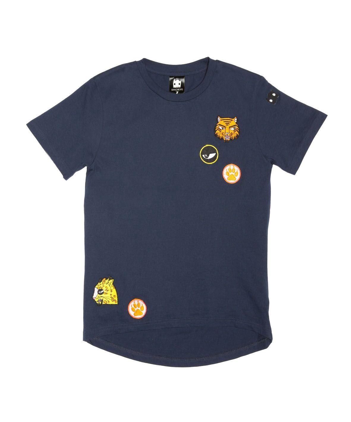 BOB Cat Badges Scoop Back Tee