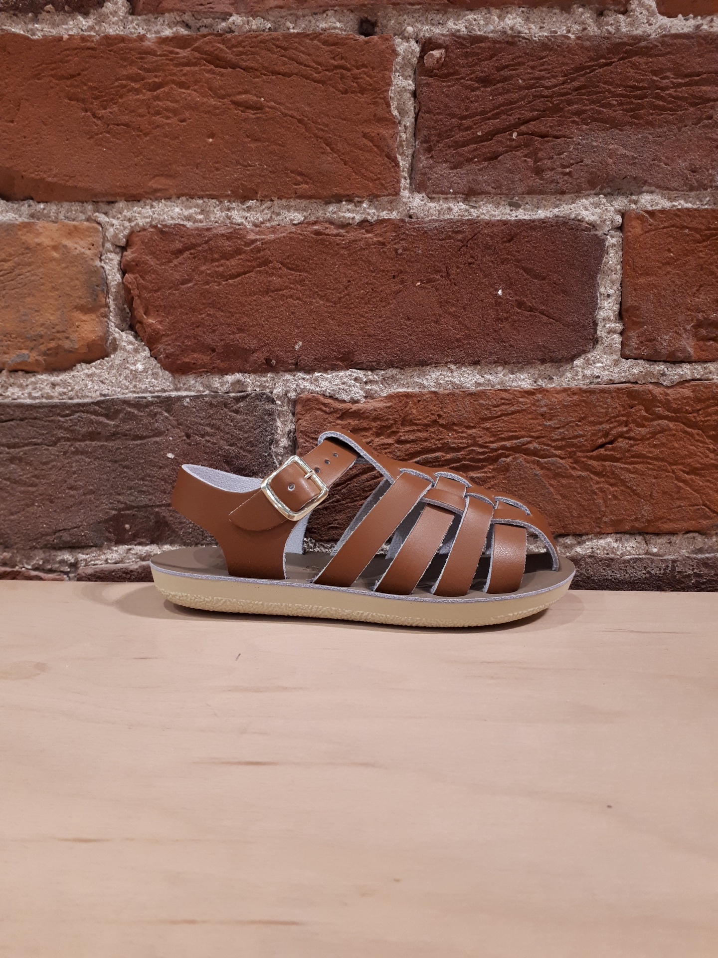 SALT WATER SANDALS - SAILOR IN TAN (9-12)
