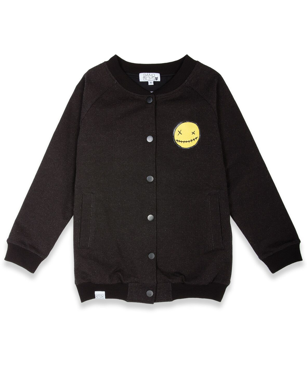 BOB Jacket Bomber Smiley Patch Black
