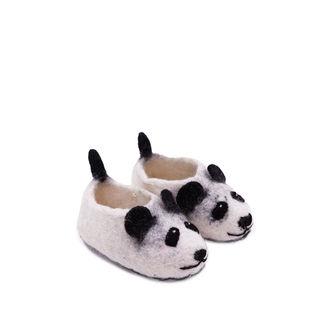 FELT PANDA SLIPPERS -SMALL