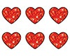 T 46406 RED SPARKLE HEARTS STICKERS