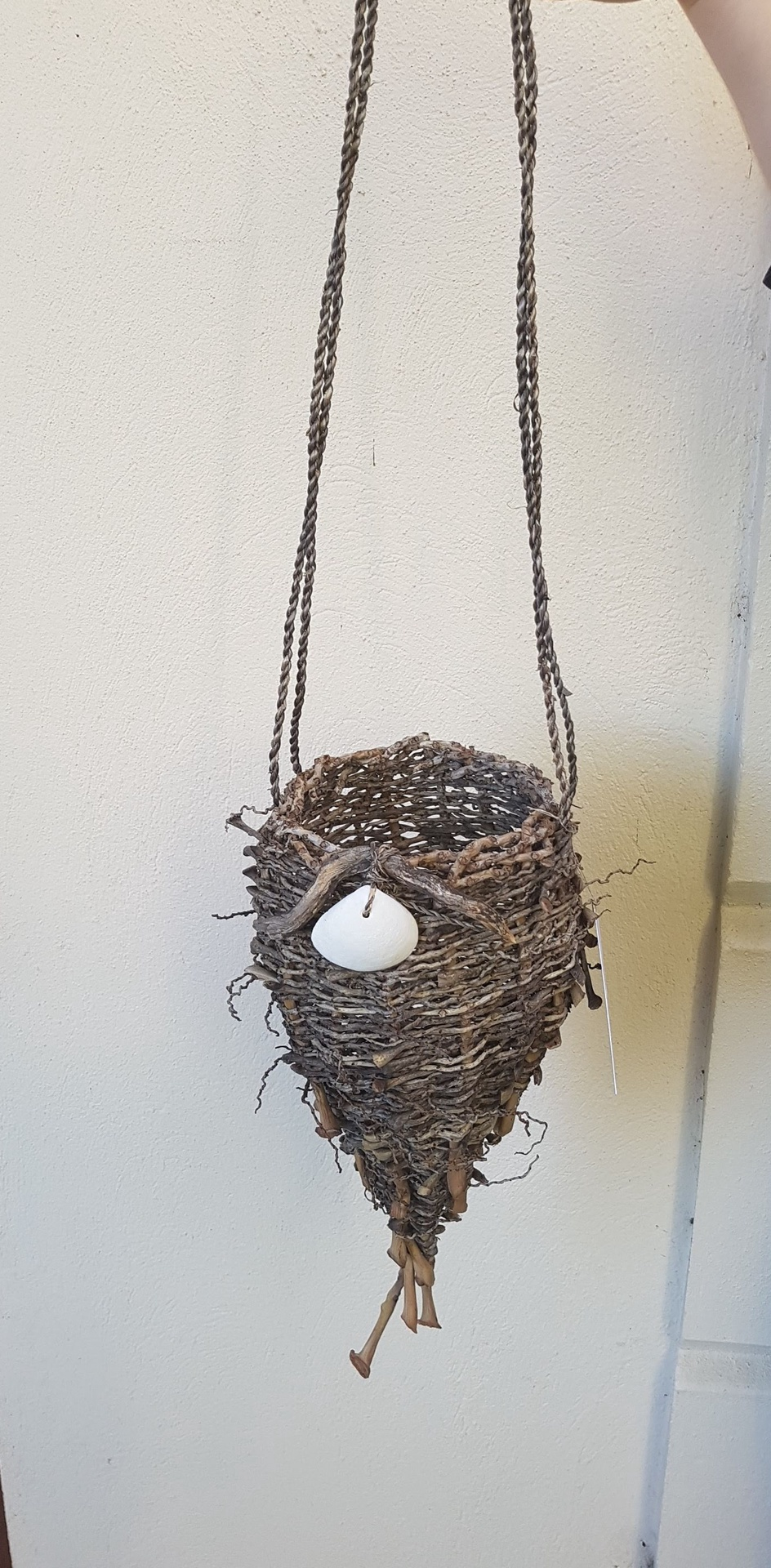 Handcrafted hanging basket