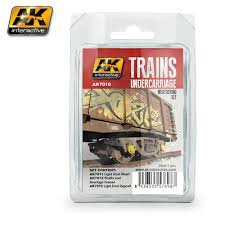 AK Interactive #AK7010 Train Undercarriage Weathering Set