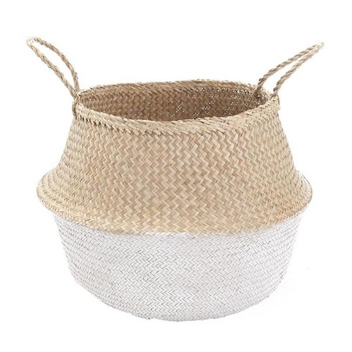 White Dipped Belly Basket | Large