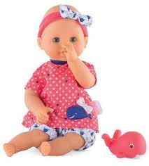 BATH BABY GIRL W PINK DOLPHIN