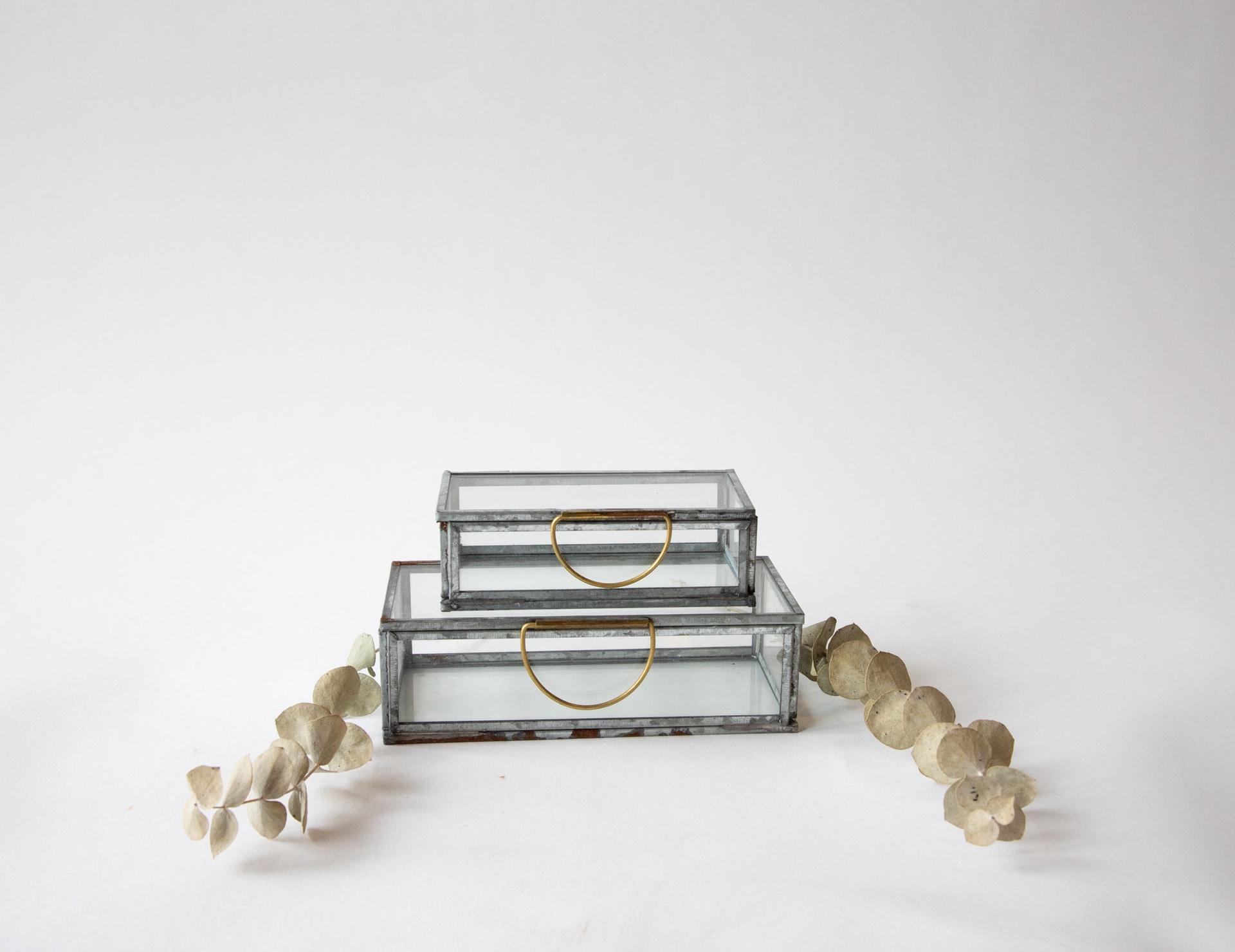 Metal & Glass Box Display