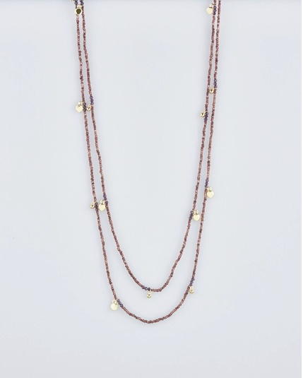 Audre necklace gold/amethyst