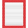 T 72352 POLKA DOTS RED NOTEPAD
