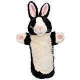 BLACK & WHITE RABBIT PUPPET