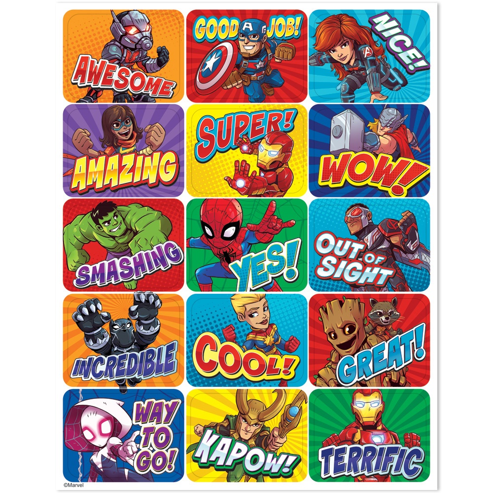 EU 657302 MARVEL SUPER HERO STICKERS