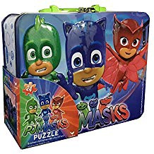 PJ MASKS LARGE TIN BOX WITH PUZZLE