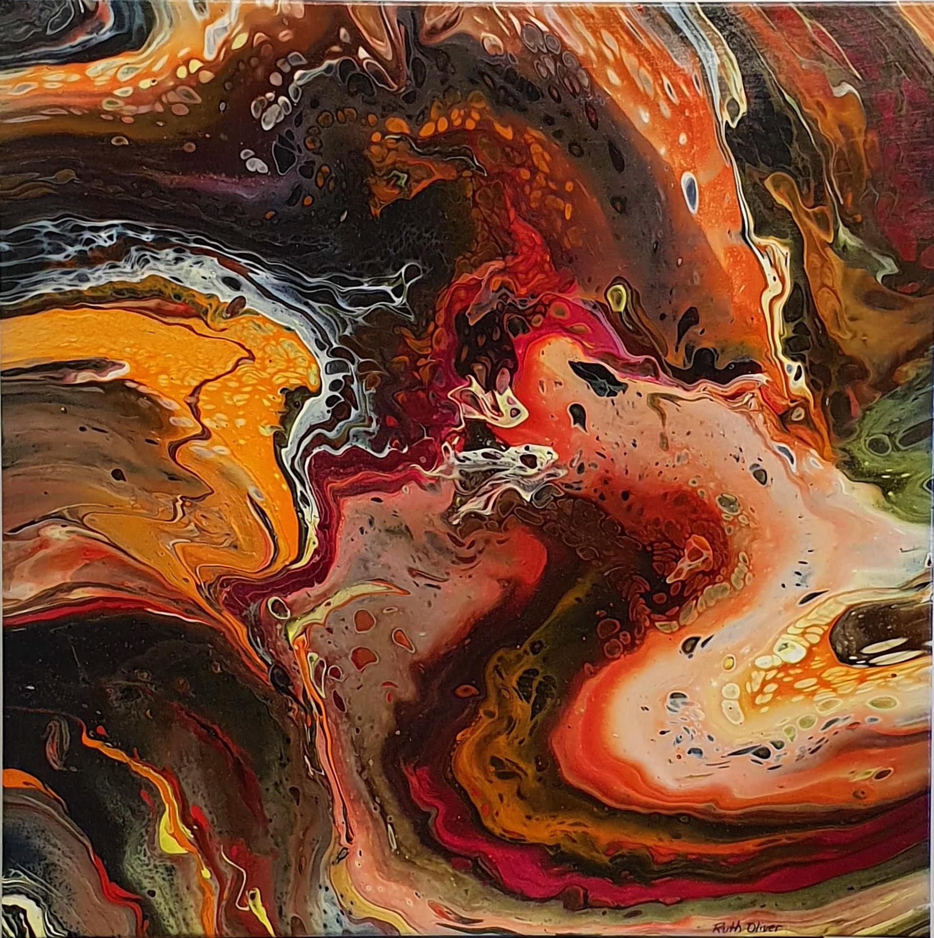 Marble painting - Desert Floods