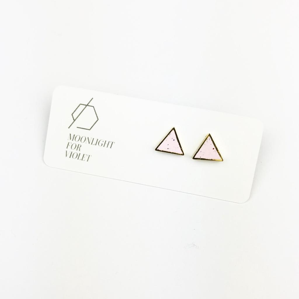 Triangle Clay Studs
