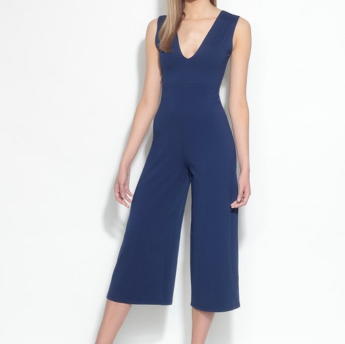 Deep V Bow Back Jumpsuit | Deep Sea