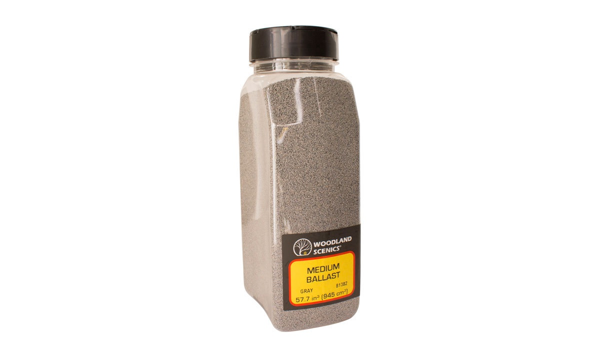 Woodland Scenics #B1382 Medium Ballast Gray Shaker