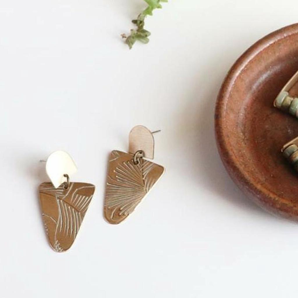 Dangling Triangle Earrings