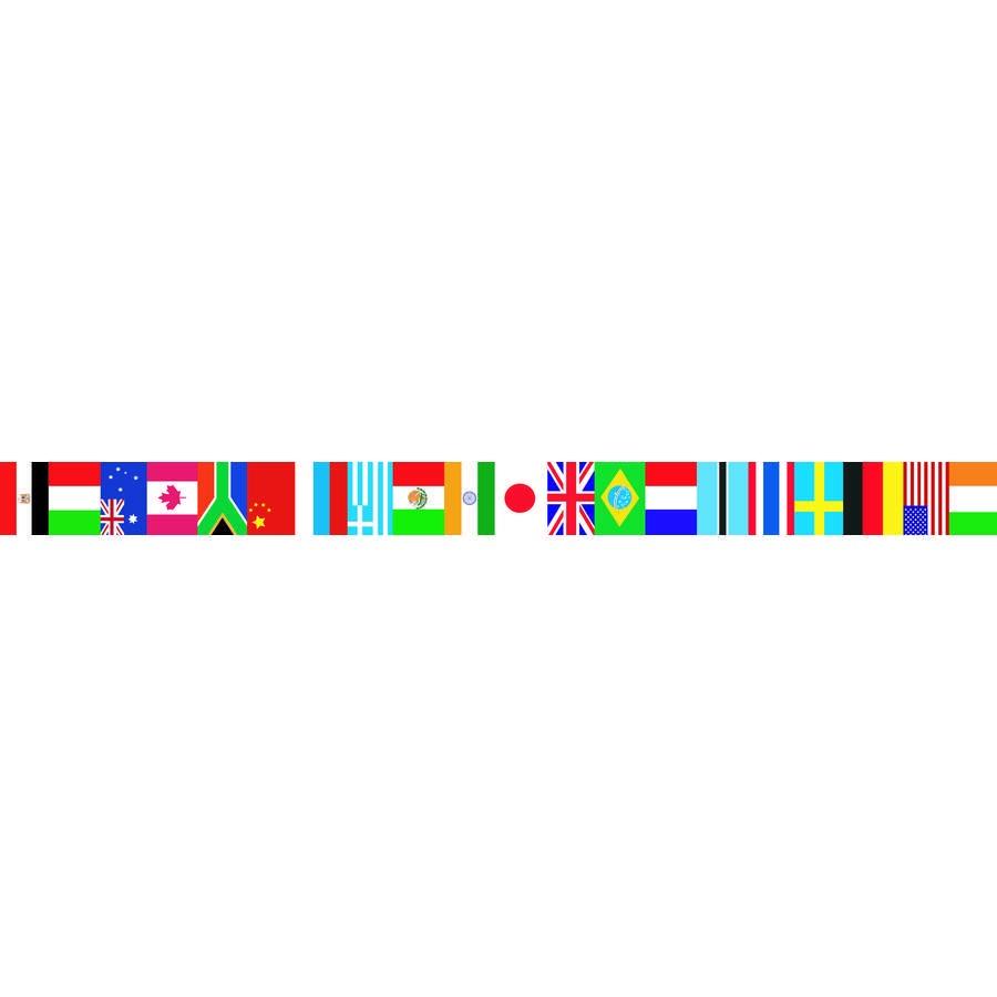 EP 60595 INTERNATIONAL FLAGS BORDER