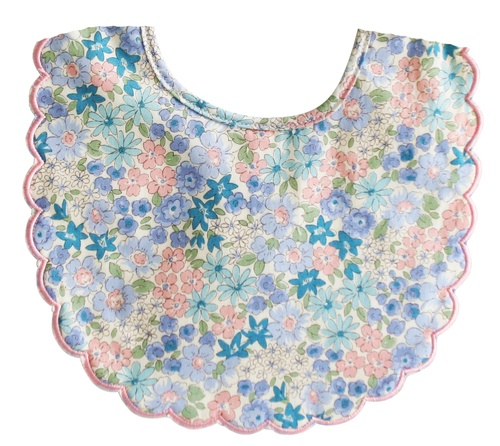 Alimrose Scallop Bib - Liberty Blue