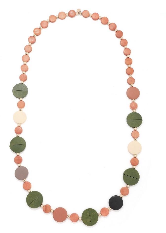 Edith Long Earth Tone Disc Necklace